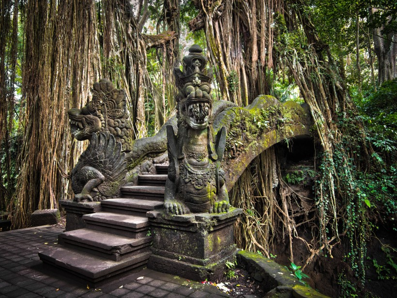 Dragon Bridge at the Monkey Forest Sanctuary in Ubud